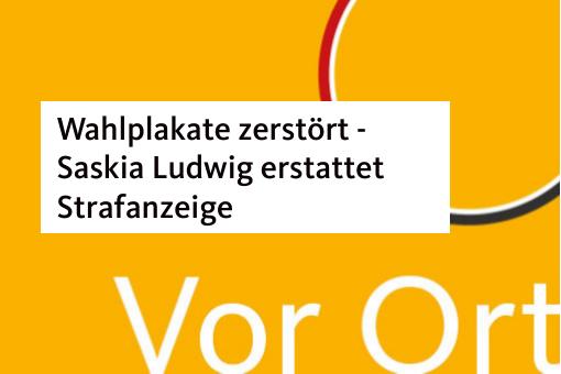 Wahlplakate zerstört – Saskia Ludwig erstattet Anzeige
