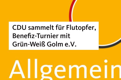 CDU sammelt für Flutopfer