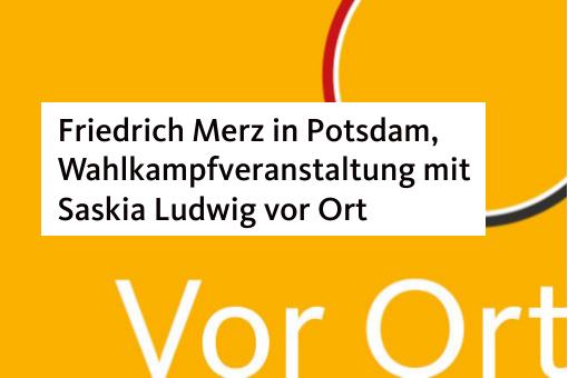 Friedrich Merz in Potsdam